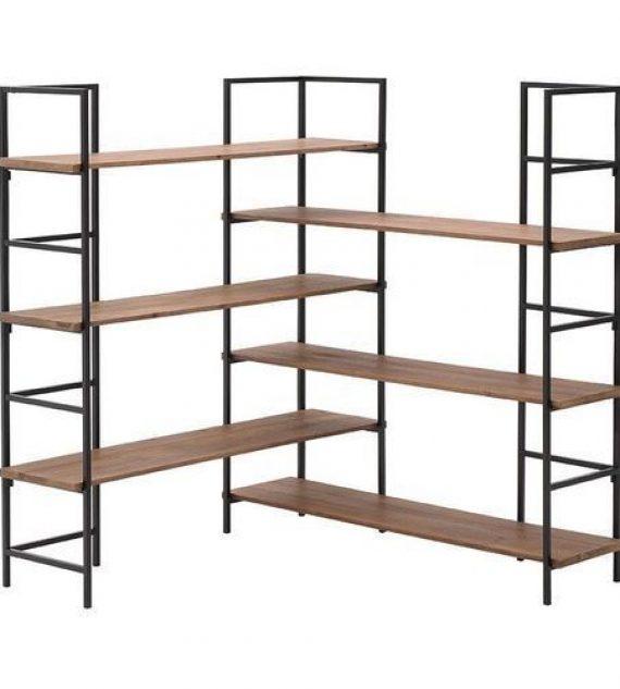 Libreria scaffale ferro etnico design vintage industriale ferro e legno