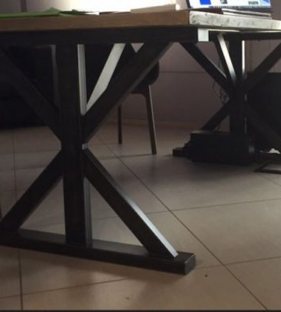 Steel Table X 2 base tavolo ferro