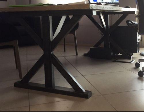 Steel Table X 2 base tavolo ferro