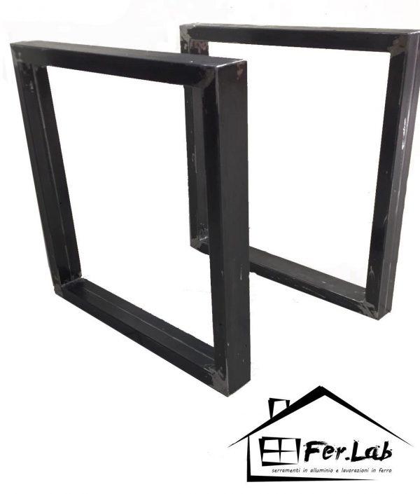 Base/Gambe tavolo in ferro cucina/salotto/scrivania Industrial design