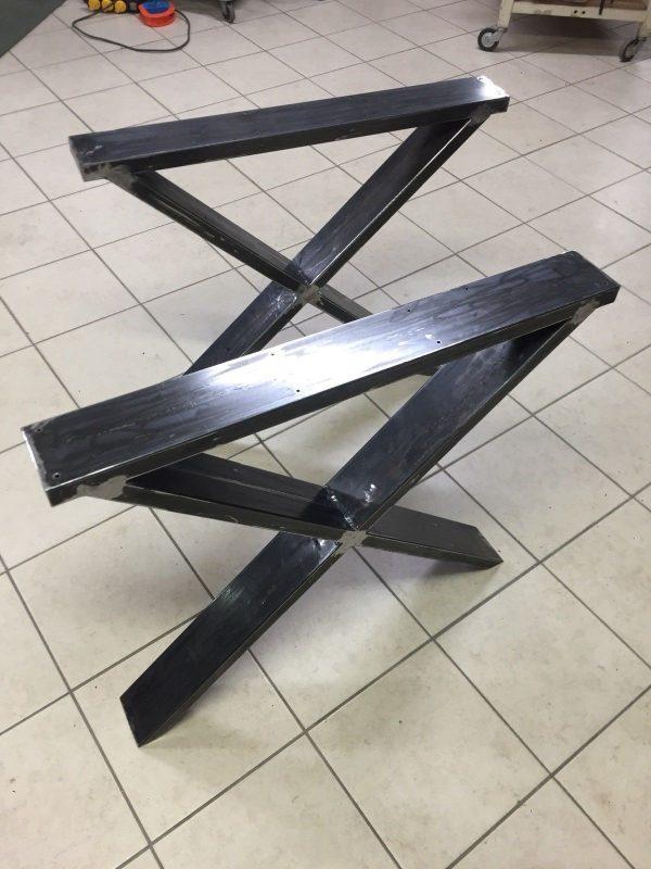 Base tavolo gambe ferro X2 Steel Table stile industriale