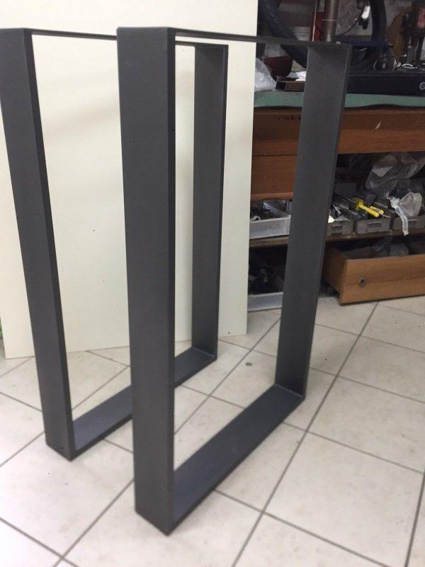 Steel Table X2 Gambe/base per consolle o tavolo alto