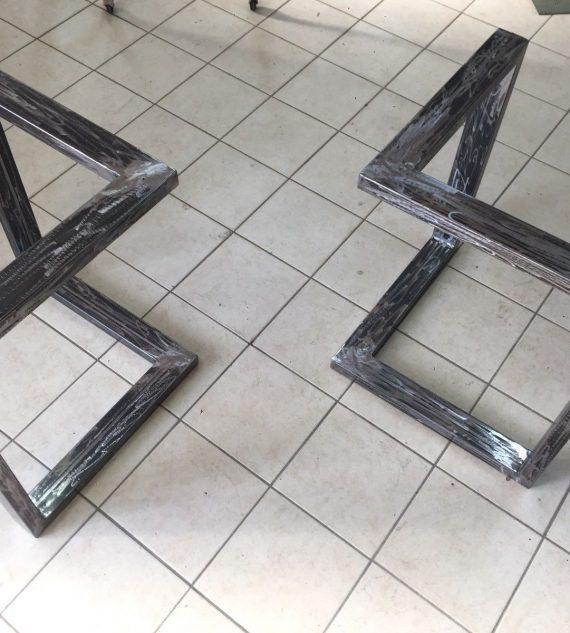 2x Gambe/Base tavolo In ferro stile industriale design moderno