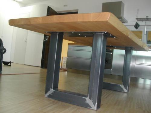 2X Gambe/Base tavolo ferro mobili industrial design