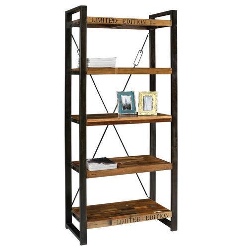 Libreria scaffale design moderno in ferro e legno