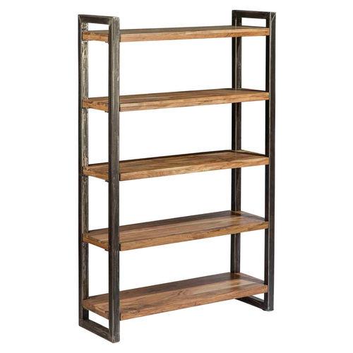 Libreria scaffale design vintage industriale ferro e legno