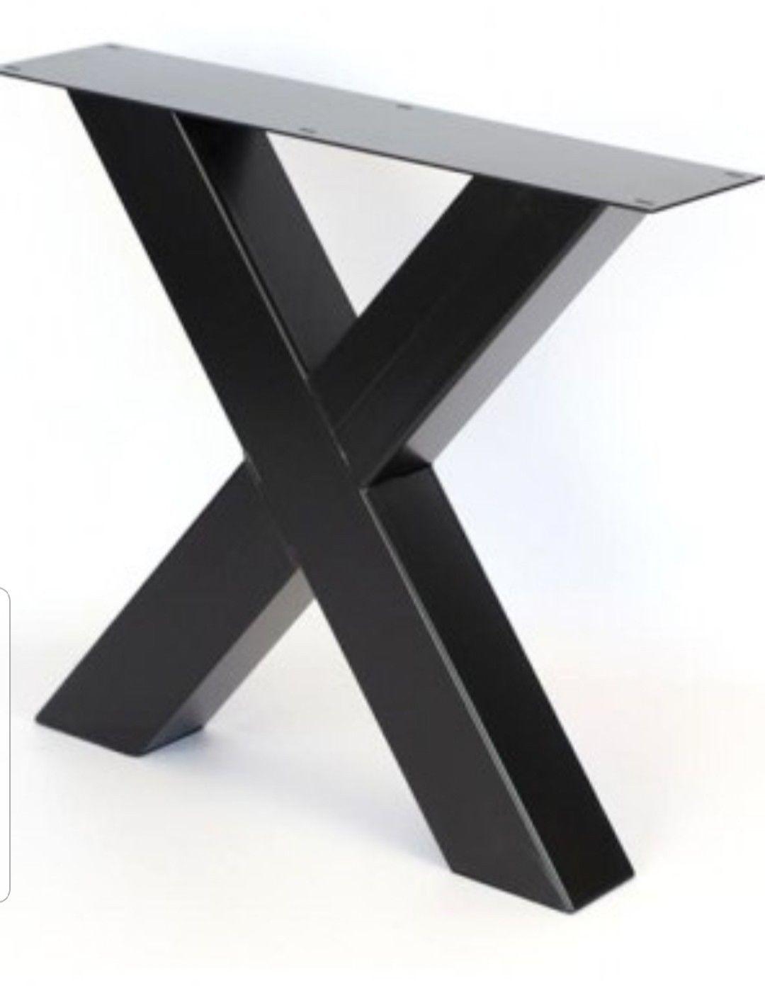Base tavolo gambe X2 steel table ferro stile industriale