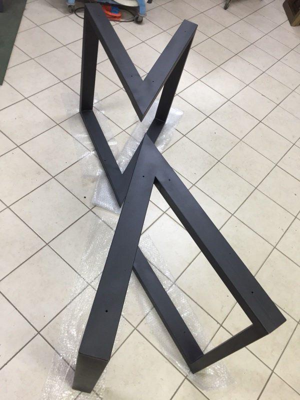 Steel Table 2x Base Tavolo In Ferro Colore A Scelta
