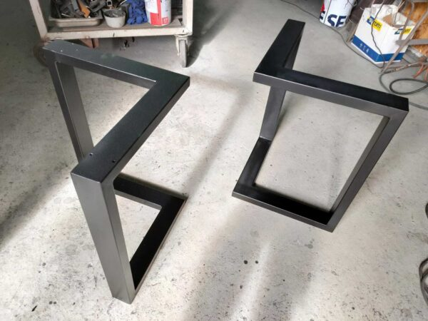 2x Gambe/Base Tavolo In Ferro verniciato, stile Industriale design moderno