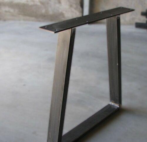 N 2 Gambe/base per tavolo Con Piedi In Plastica Colore Nero Opaco